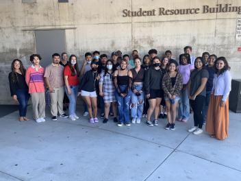 PROPEL Scholars, Mentors, and Program Team in front of SRB